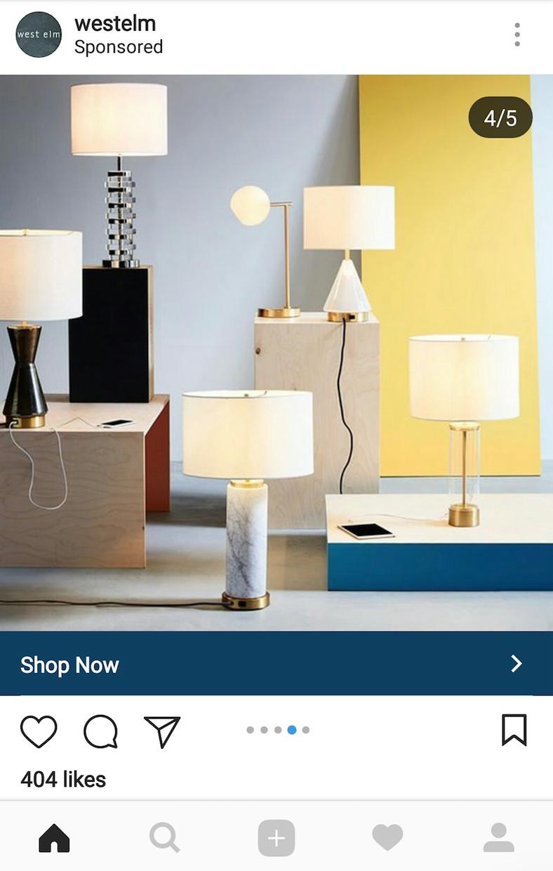 Sponsored instagram post for instagram shopping