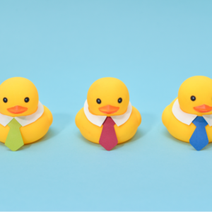 three-plastic-ducks-with-shits-and-ties-on