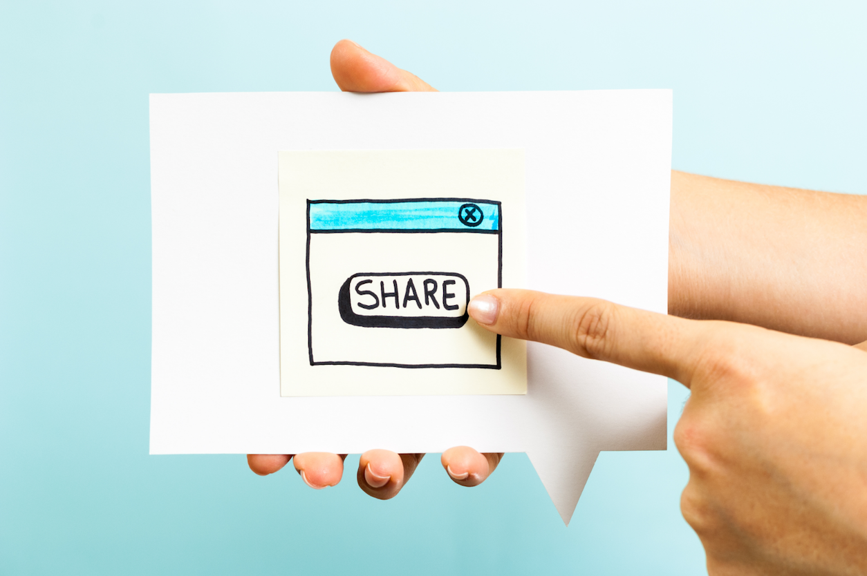 pointing-to-share-button-drawing