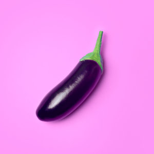 eggplant-on-pink-background