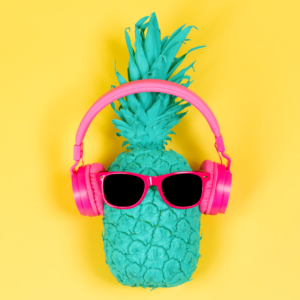Green-pineapple-wearing-sunglasses-and-headphones