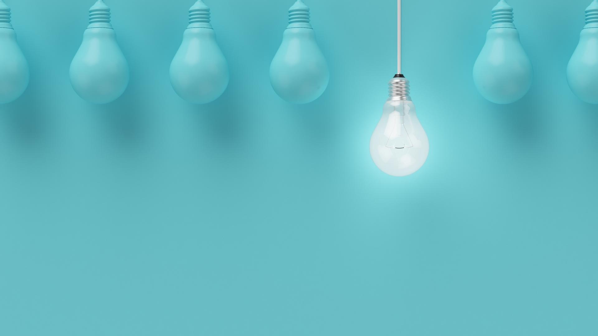 blue-lightbulbs-with-one-bright-lightbulb
