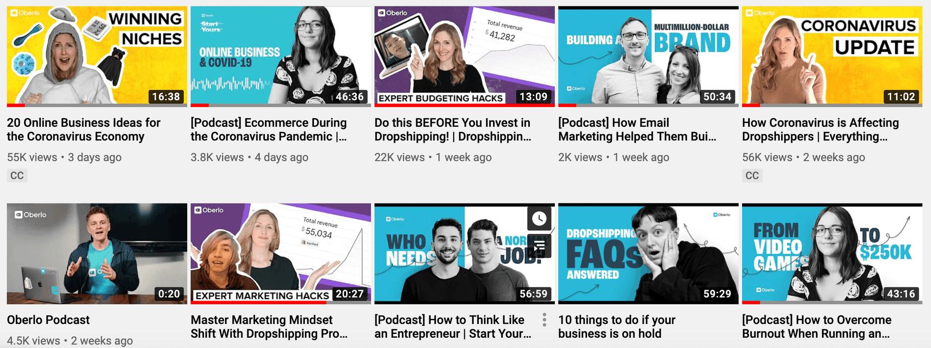 YouTube-thumbnails