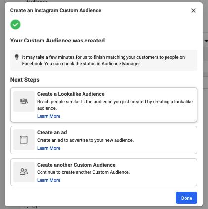 Create a lookalike audience