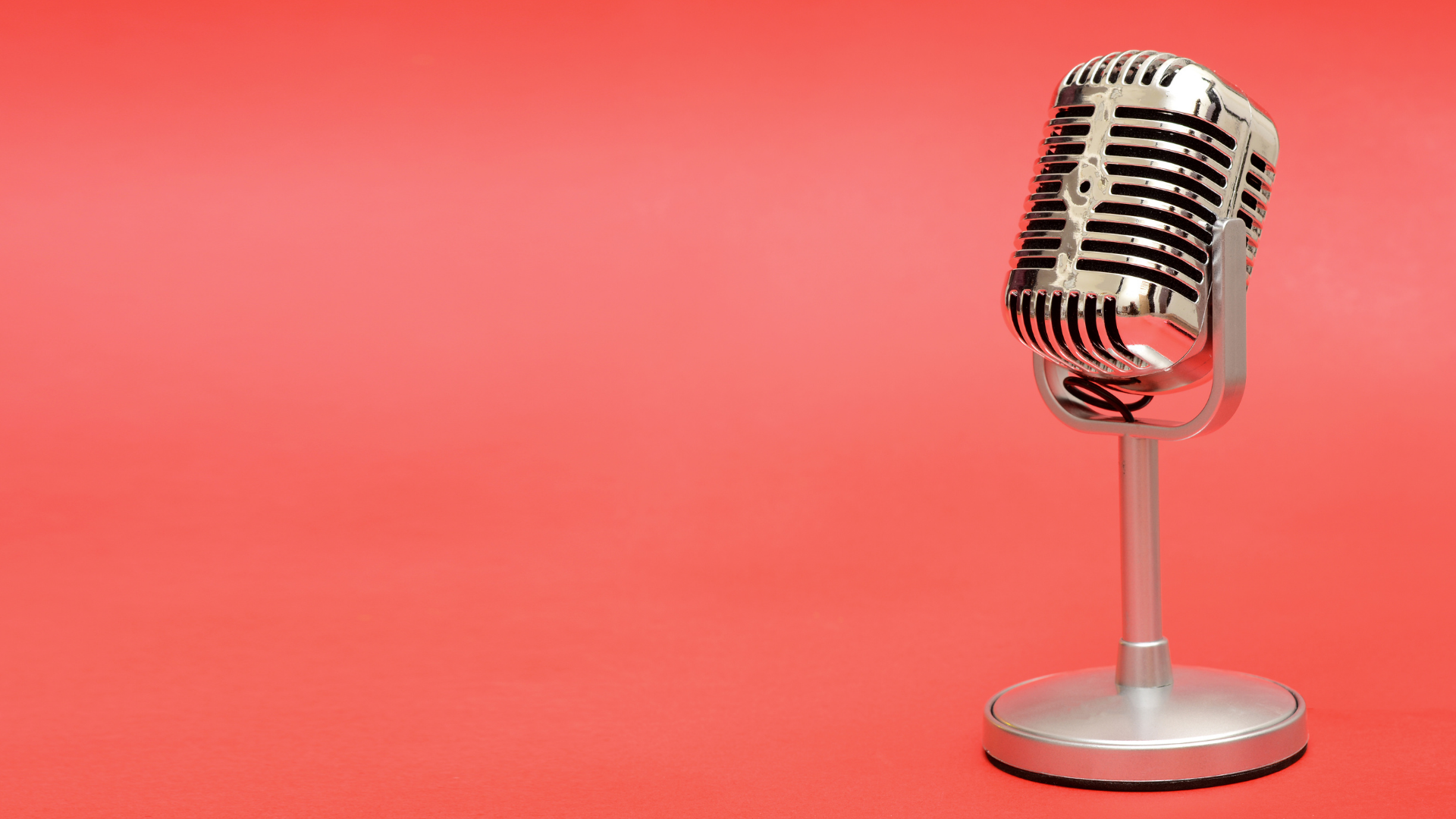 microphone-on-red-background