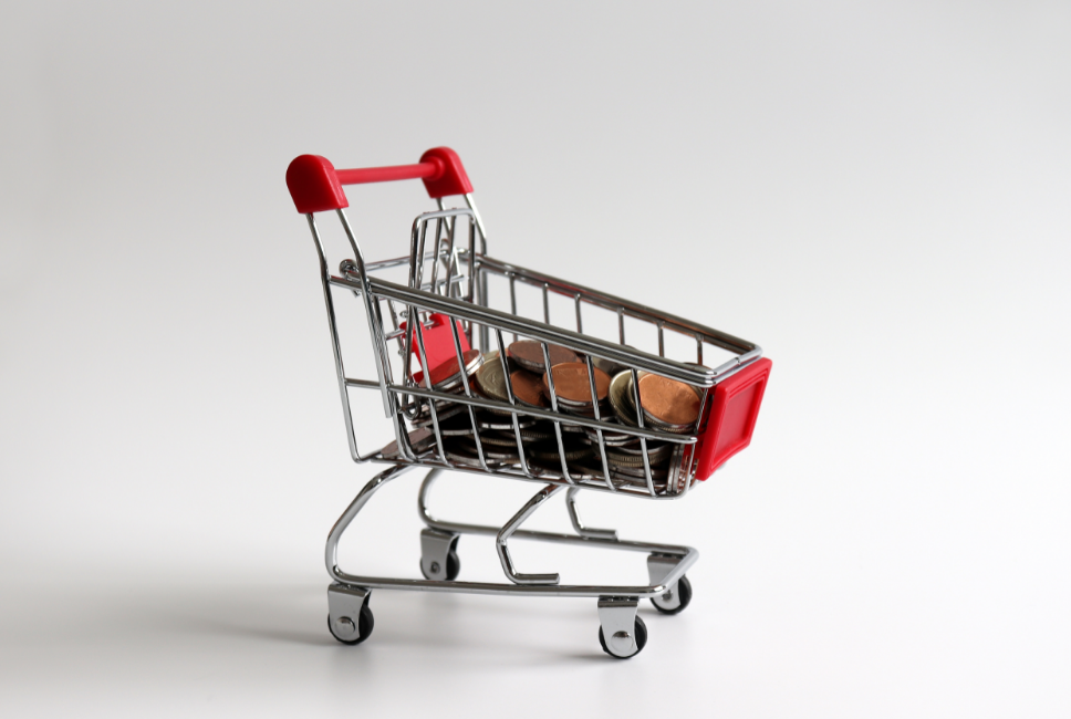 budget-pennies-in-trolley